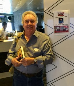 Graham promoting his book 'Cowboys and Angels'